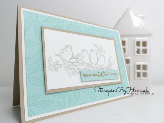 Free as a Bird Friendship card using Stampin' Up! products with StampinByHannah
