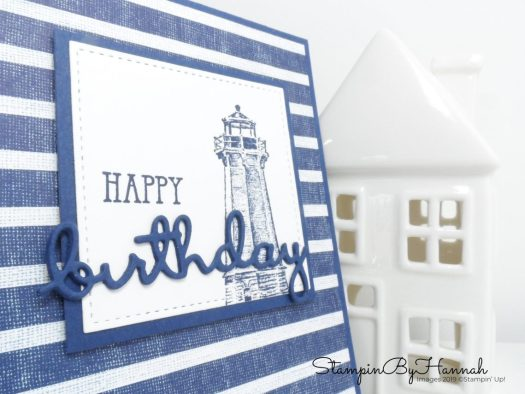 Create a fun Birthday card for that special guy using Come Sail Away from Stampin' Up!