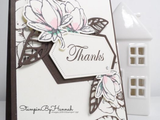 Good Morning Magnolia Thank YOu Card using Stampin' Up! products with StampinByHannah