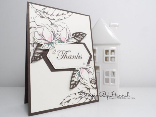 Good Morning Magnolia with Stampin' Blends Thank you card with StampinByHannah