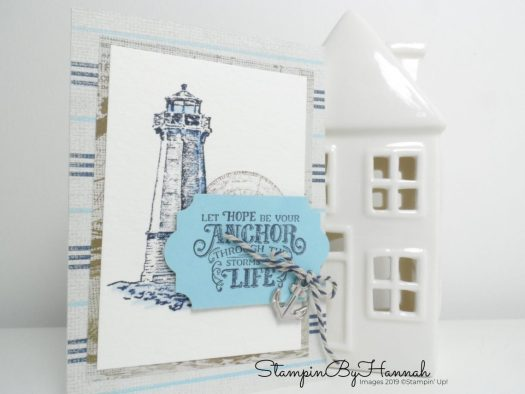 Cute Make and Take idea using Sailing Home from Stampin' Up! with StampinByHannah