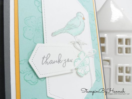 Free as a Bird Thank you card with Nested Stitched Labels from Stampin' Up! with StampinByHannah
