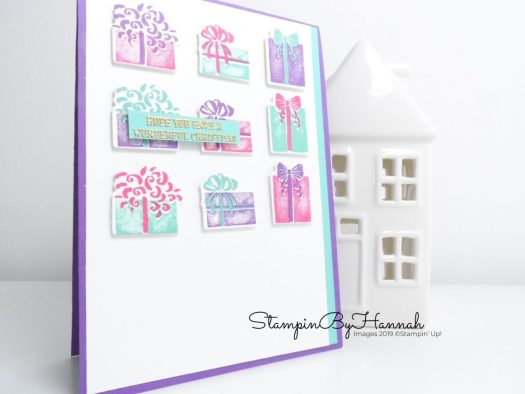 Most Wonderful Time Christmas Present Card using Stampin' Up! products with StampinByHannah