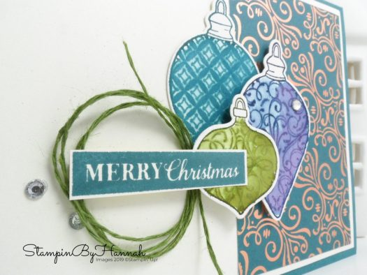Watercolour Christmas Card using Christmas Gleaming from Stampin' Up! with StampinByHannah