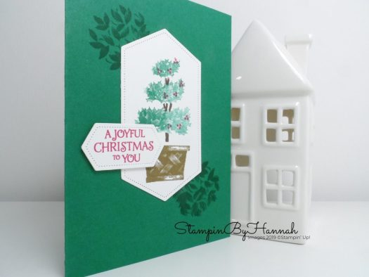 Beauty and Joy Christmas Card using Stampin' Up! products with StampinByHannah