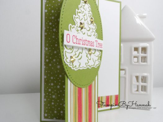 Fancy Fold Christmas Card using Most Wonderful Time from Stampin' Up! with StampinByHannah