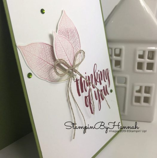 Ombre stamping Thinking of you card using Rooted in Nature from Stampin' Up! with StampinByHannah