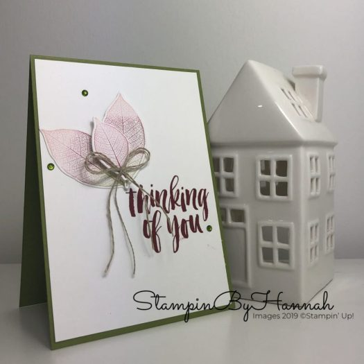 Thinking of you card using Rooted in Nature from Stampin' Up! with StampinByHannah