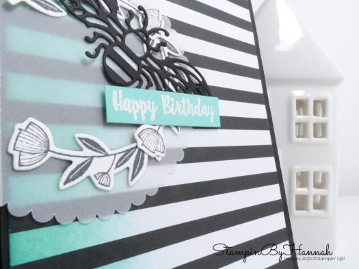 Cute Bee Birthday Card using Honey Bee from Stampin' Up! with StampinByHannah