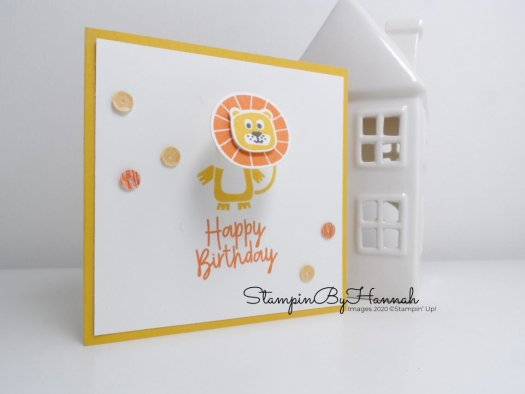 Happy Birthday card using Bonanza Buddies from Stampin' Up! with StampinByHannah