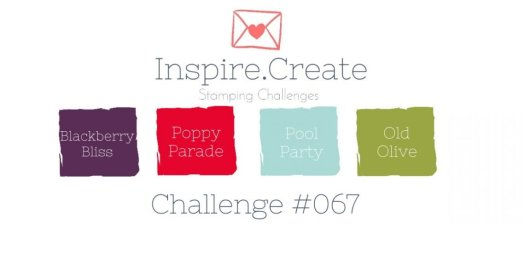 Inspire.Create.Challenge colour challenge Stampin' Up!