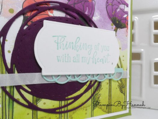 Thinking of you hand made card using Peaceful Poppies from Stampin' Up! with StampinByHannah for Inspire.Create.Challenge