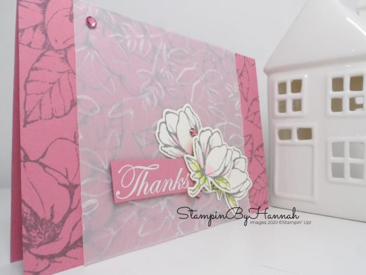 Good Morning Magnolia Thanks Card for Inspire.Create.Challenge with Stampin' Up! and StampinByHannah