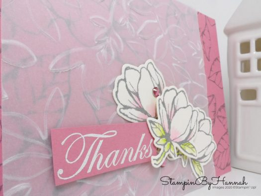 Pretty Thank you card using Good Morning Magnolia from Stampin' Up! with StampinByHannah