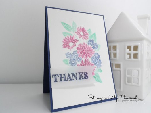 watercolour Thank you card using Ornate Style from Stampin' Up! with StampinByHannah