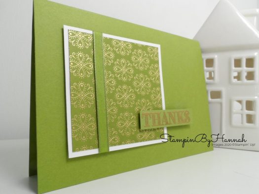 Ornate Garden Designer Series Paper Thank you card using Stampin' Up! products with StampinByHannah