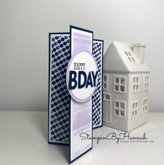 Z fold card using Playing with Patterns from Stampin' Up! with StampinByHannah