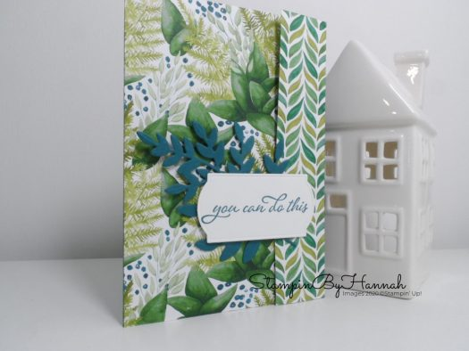 Forever Greenery Designer Series Paper swap card using Stampin' Up! Forever Fern with StampinByHannah
