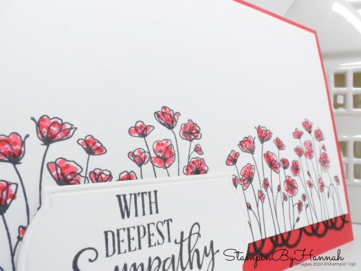 Stampin' Blends and Painted Poppies card using Stampin' Up! products with StampinByHannah