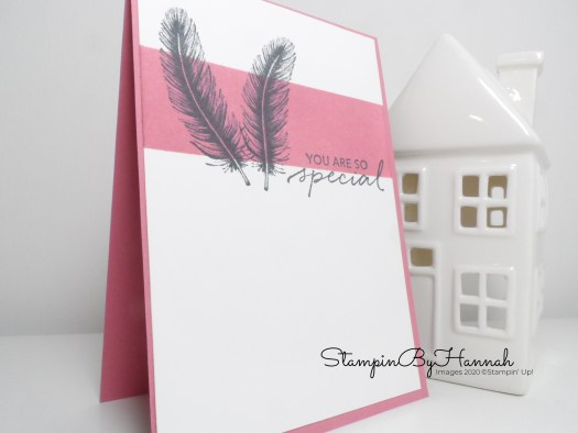 You Are So Special Ink Blended card using Tasteful Touches from Stampin' Up! with StampinByHannah