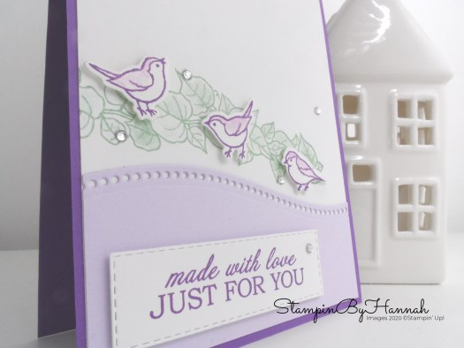 Quite Curvy just for you card using Stampin'  Up! Products with StampinByHannah
