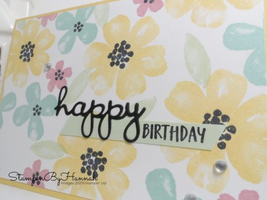 quick and easy birthday card using Pretty Perennials from Stampin' Up! with StampinByHannah