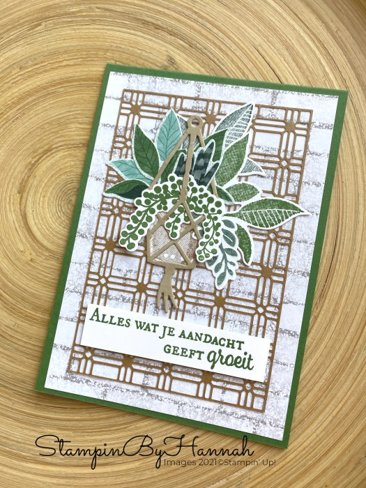 Detailed handmade card using Bloom where you are planted from Stampin' Up!
