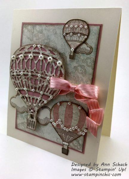 Lift Me Up shabby chic card