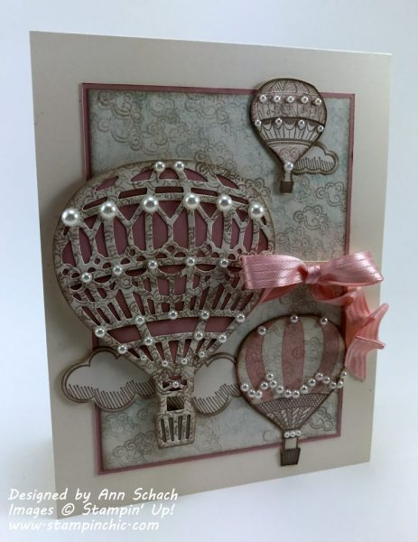 Shabby chic Lift Me Up card