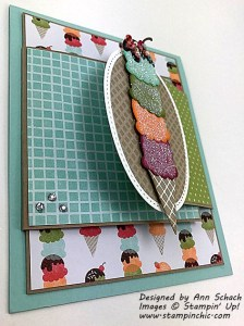 Flap two of double flap fold cool treats card