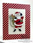 child's Santa card