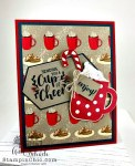 Christmas K-cup holder with card