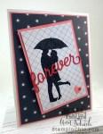 romantic silhouette card