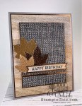 masculine birthday card with leaves