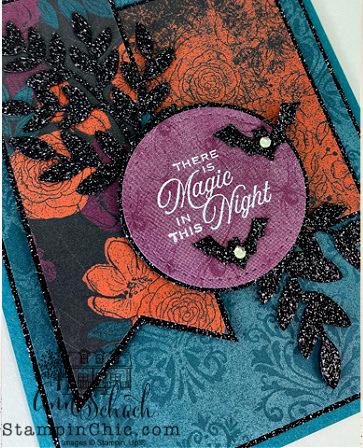 glittery Halloween card