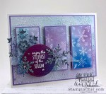 sparkly snowflake card