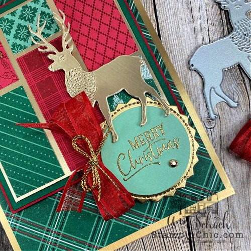 classic red, green Christmas card
