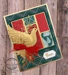 golden dove Christmas card