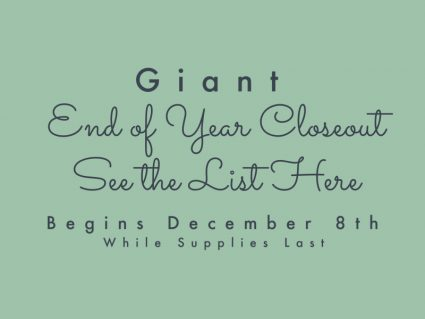 End of Year Closeout