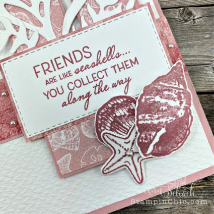 Seashell Friendship Card in Pink