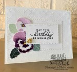clean and simple pansy birthday card