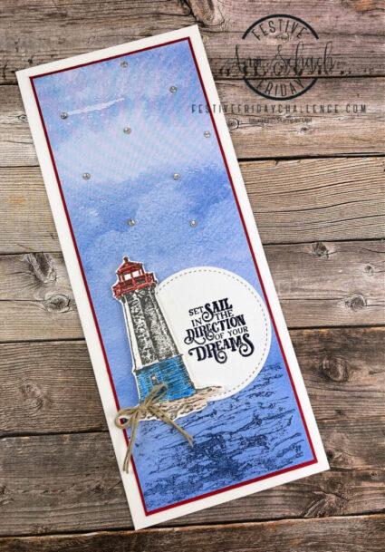 slimline lighthouse card