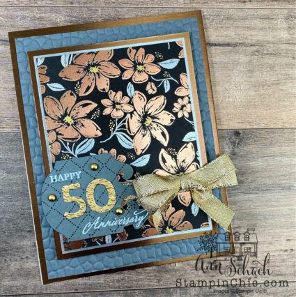 elegant anniversary card
