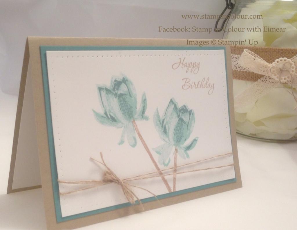 Stampin Up Lotus Blossom Birthday Card