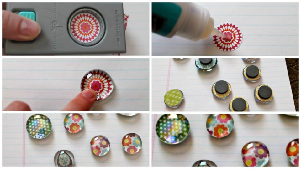 Glass Pebble Magnet Tutorial from StampinFool.com