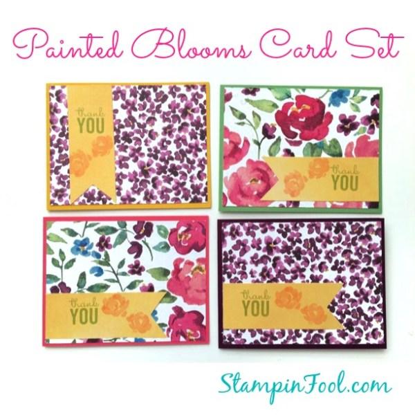Painted Blooms Card Set at StampinFool.com