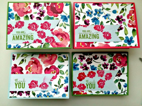 Painted Blooms card set by StampinFool.com