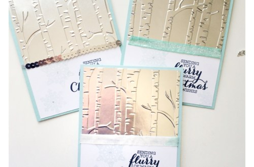 Woodlands Embossing, Flurry of Wishes Stampin Up Holiday Card Set at StampinFool.com