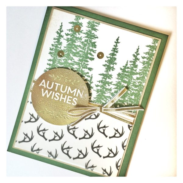Wonderland Fall Deer Season card from StampinFool.com