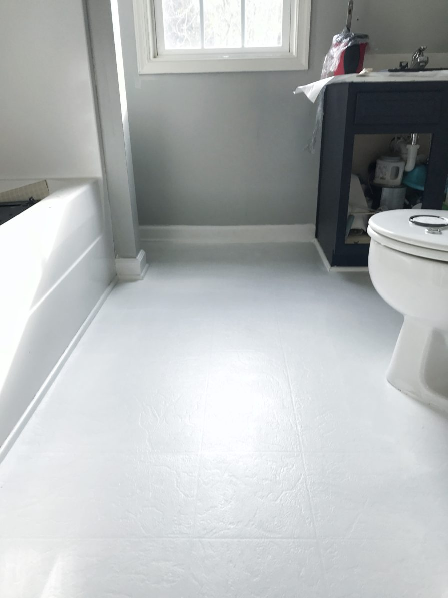 how to paint vinyl floors step by step